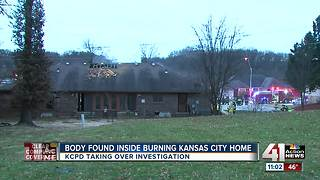 KCPD: Man with gunshot wound found in burning home - Video