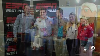 2019 World Series trophy comes to WPTV and ESPN 106.3