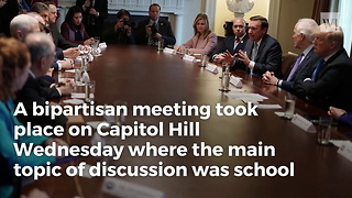 Trump Destroys 'Gun-free Zones' In Bipartisan Meeting On School Safety - Video