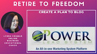 Create a Plan to blog