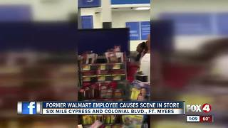 Former employee causes scene in Walmart - Video
