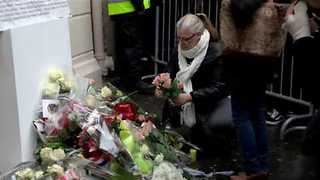 Crowd Gathers at Le Bataclan on First Anniversary of Paris Attacks - Video