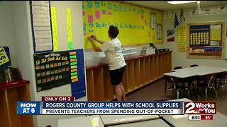 Rogers County group helps with school supplies - Video