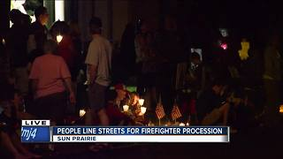 People line Sun Prairie streets for fallen firefighter