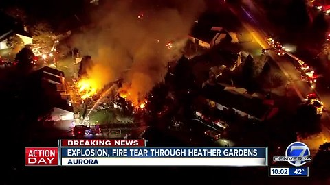 Explosion results in multiple-structure fire at Heather Gardens in Aurora; at least 2 injured