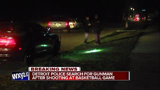 Man shot following argument during basketball game in southwest Detroit - Video