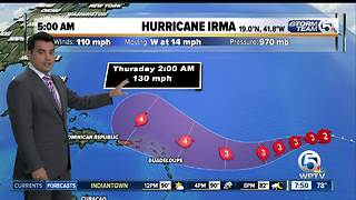 Hurricane Irma 9/2/17 - 8am update