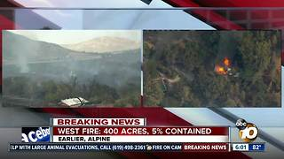 West Fire burns homes in Alpine - Video