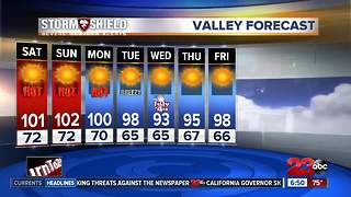 Triple-digits return to the valley today - Video