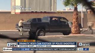 Dramatic body cam footage shows police shootout - Video