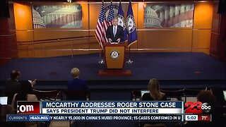 Rep. McCarthy Addresses Roger Stone