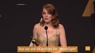 Celebs react to that awkward 'La La Land' and 'Moonlight' mix-up | Hot Topics - Video