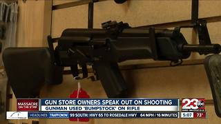 Local gun shop owners speak out on Las Vegas shooting - Video