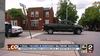 1 man shot, 1 person dead after a shooting in Northwest Baltimore on Saturday evening