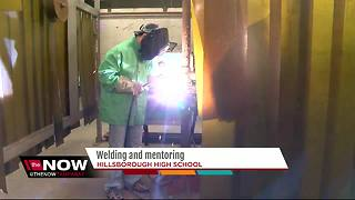 Hillsborough High teachers gives up six-figure salary to teach welding class - Video
