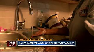 Tenants complain of no hot water at brand new apartment complex - Video