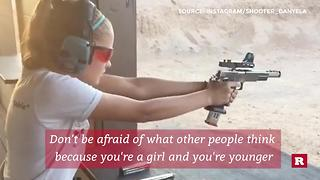 Danyela D'Angelo, the 14 year old competitive shooter | Rare News - Video