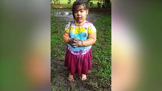 "Hilarious Toddler Girl Pretends To Be A ""Muddy Monster"" - Video"