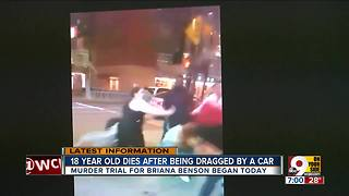 Murder trial for Briana Benson began today - Video