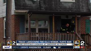 Woman dies, husband in critical condition after Lansdowne fire - Video
