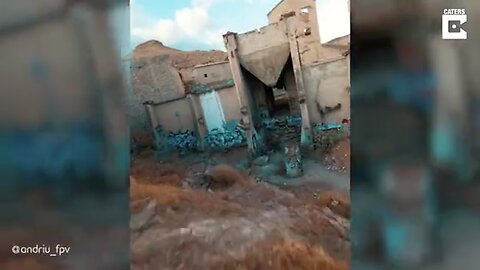 DRONE FLIES THROUGH NARROW PASSAGES IN EERIE ABANDONED FACTORY