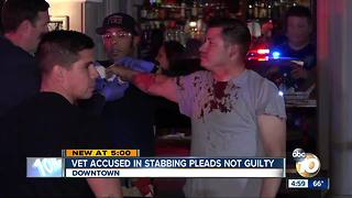 Army vet accused of stabbing soldier in the face pleads not guilty - Video