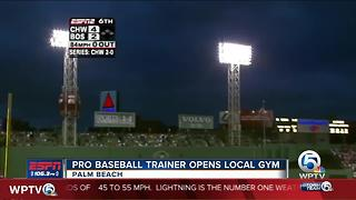Professional Baseball Trainer opens gym in Palm Beach County - Video