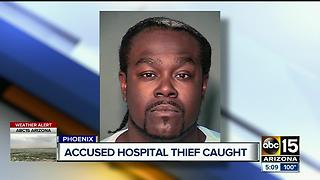 PD: Man slept in Phoenix hospital basement, robs them of computers - Video
