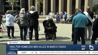 Vigil for homeless men killed in crash