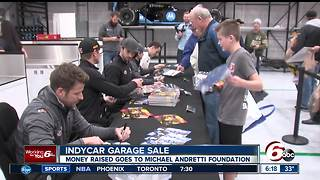 IndyCar garage sale raises money for Michael Andretti Foundation - Video