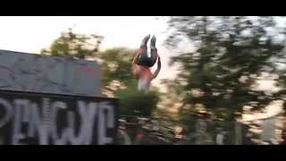 This Rollerblader's Backflip Trick Is Insane - Video