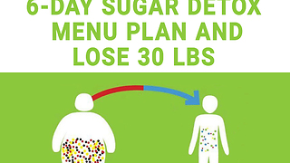 6 day sugar detox menu plan, lose 30 lbs!  - Video