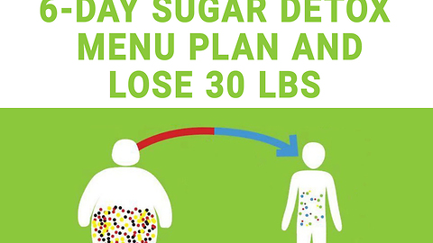 6 day sugar detox menu plan, lose 30 lbs!