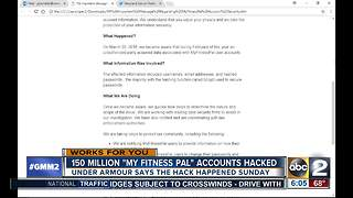 Under Armour says 150 million 'My Fitness Pal' accounts hacked - Video