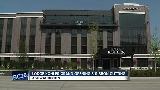 Lodge Kohler ribbon cutting today - Video