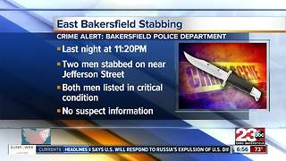 Stabbing in East Bakersfield leaves two men in critical condition - Video
