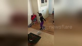 6-year-old has sick football skills - Video