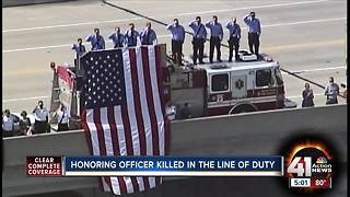 Fallen Officer Gary Michael escorted to Clinton - Video