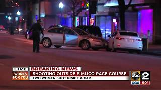2 women shot inside vehicle in Park Heights - Video
