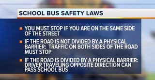 Authorities share school bus safety laws