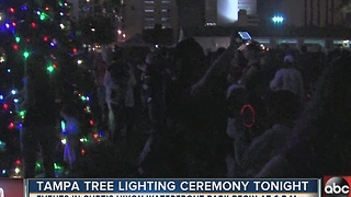Tampa tree lighting ceremony Friday night, plus the forecast - Video