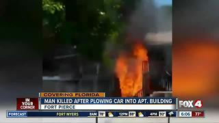 Car packed with propane tanks smashes into Florida apartments - Video