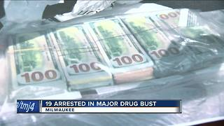 19 arrested in Milwaukee in federal drug bust - Video