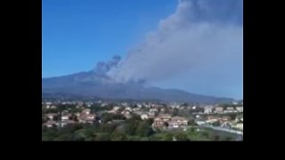 Ash Rises Over Sicily as Mount Etna Erupts - Video