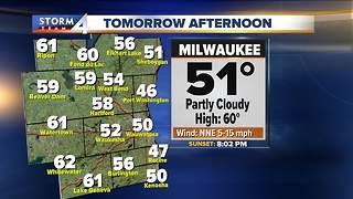Partly cloudy with highs in the 60s Thursday - Video