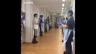 WATCH: 106-year-old woman leaves hospital to applause after beating Covid-19 (mup)