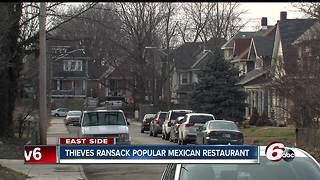 Thieves steal copper from popular Mexican restaurant - Video