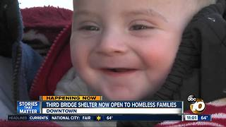 Third shelter opens for homeless families - Video