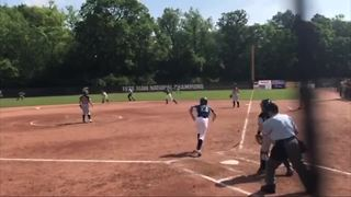 Young woman powers through using softball after suffering stroke - Video