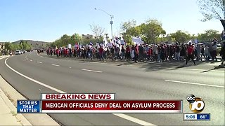 Mexican officials deny deal on asylum process